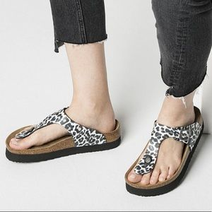 Birkenstock Papillion Gizeh Animal Print Sandal